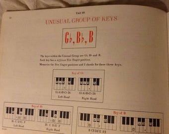 6 sheets Vintage Beginner Piano Music
