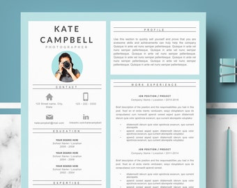 professional resume cv templates for word modern creative etsy