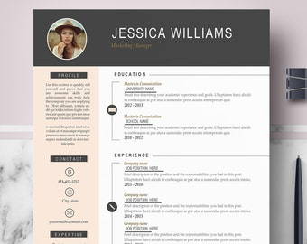 Cv Design Creative Cv Resume Template Ms Word Pages Etsy