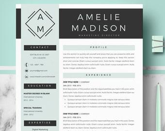 Resume Templates Modern Professional Resume Design Cv Etsy