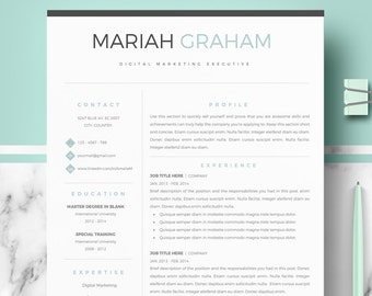 Marketing Resume Template Etsy