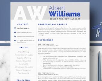 Resume Templates Modern | Professional Resume Templates Minimalist Resume Cv Template Etsy