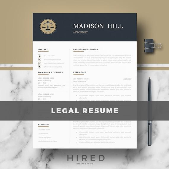 attorney resume cv template legal resume cv lawyer resume etsy