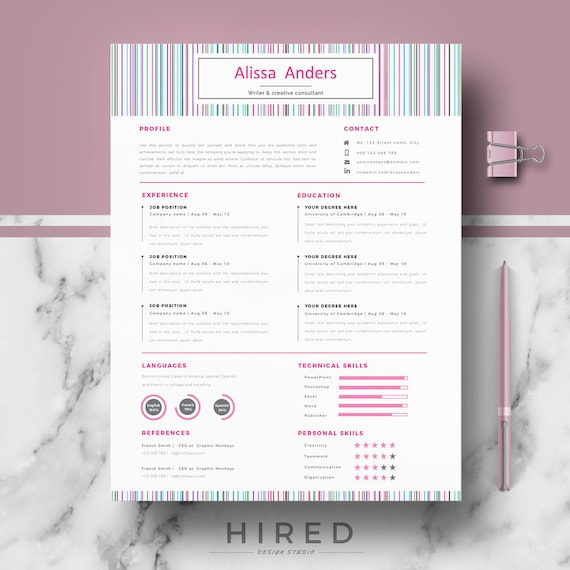 creative cv resume template modern cv templates for word