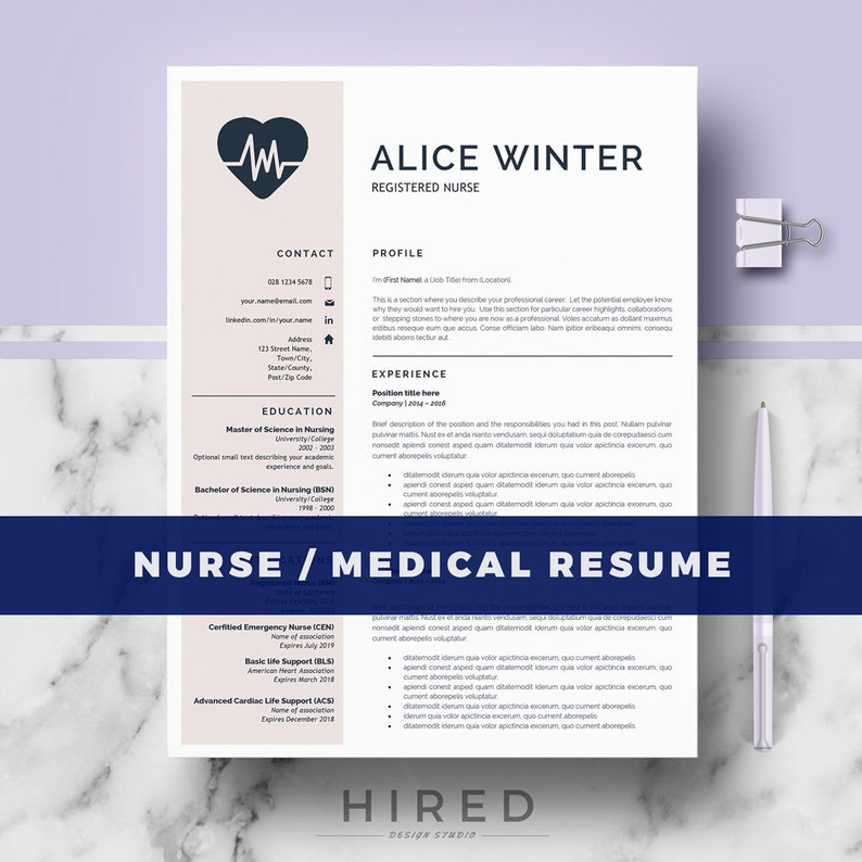 RN Nurse Resume Template Medical For MS Word
