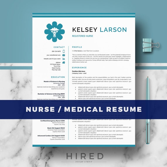 nurse resume template doctor resume template for ms word and etsy