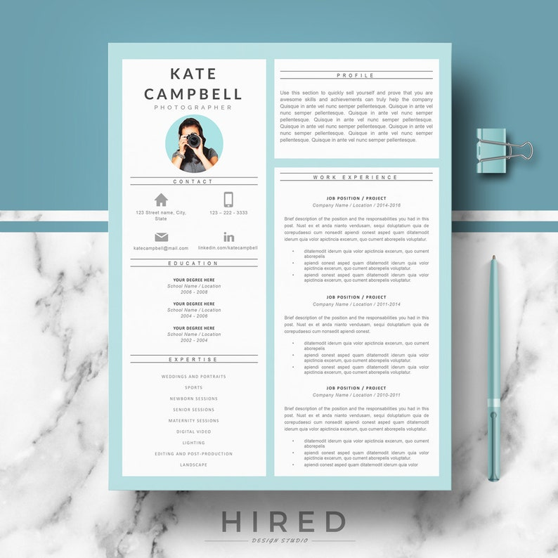 Modern Creative Resume CV Template Templates For