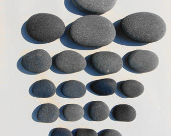 Natural Basalt Massage Healing Spa Home Trerapy Small to Medium Stones - 20 piece set