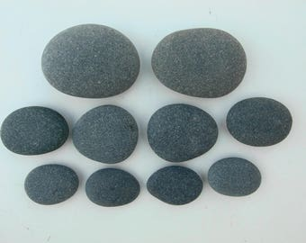 Natural Basalt Massage Healing Spa Home Trerapy Small to Medium Stones - 10 piece set