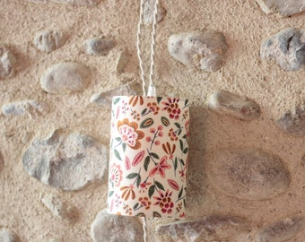 Nomadic lamp, walking lamp, lamp, nomadic lamp, lampshade, floral fabric, luminaire, suspension, bedside lamp, Lise Tailor