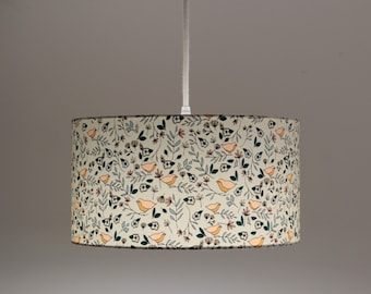 Caminot lampshade, lampshade, fabric lampshade, cotton, floral fabric, floral pattern, boho, suspension, floral lampshade, floral lamp