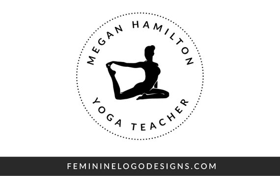 Yoga Teacher Logo Yoga Logo Design Black Logo Circle Logo Etsy