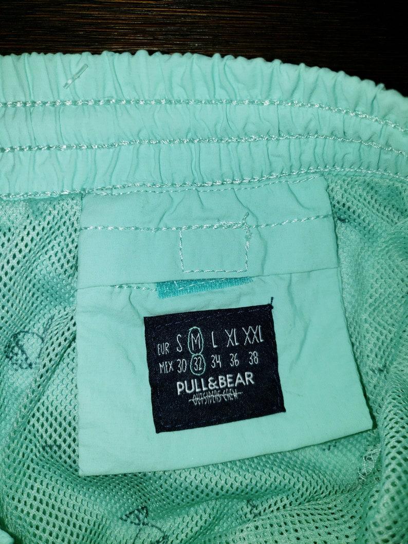 Turquoise Swim Trunks Board Shorts Pull /& Bear