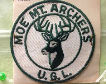 Vintage Moe Mountain Archers Patch Upper Greenwood Lake New Jersey Hunting Patch Moe Mt. Archers U.G.L.