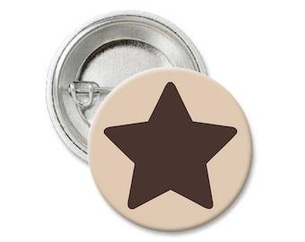 b5 - DIPPER PINES Original Star Hat BUTTON Pin - Pinback Button