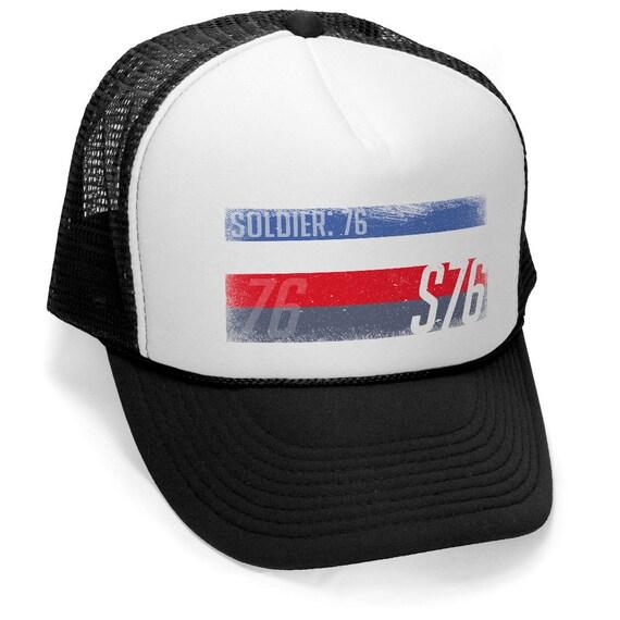 5b583e690fb SOLDIER 76 S76 OVERWATCH GAMER Trucker Hat