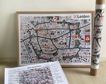 Map of Leiden