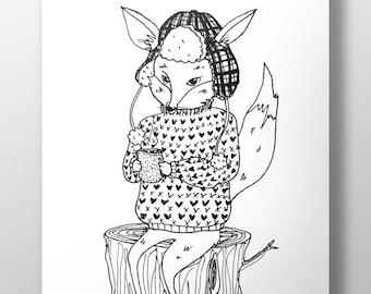 Cocoa Fox - A4 Print