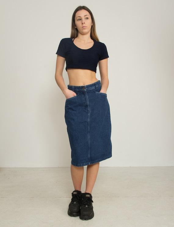 VALENTINO Denim Blue Skirt