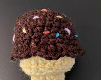 Ice Cream Cone Crochet Pattern PDF