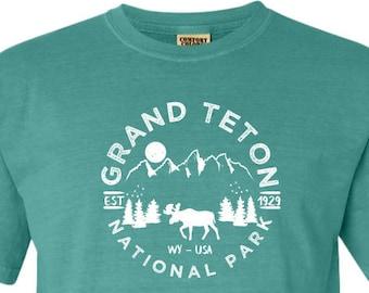 Grand Teton National Park Adventure Comfort Colors TShirt