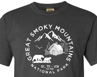Great Smoky Mountains National Park Adventure Comfort Colors TShirt