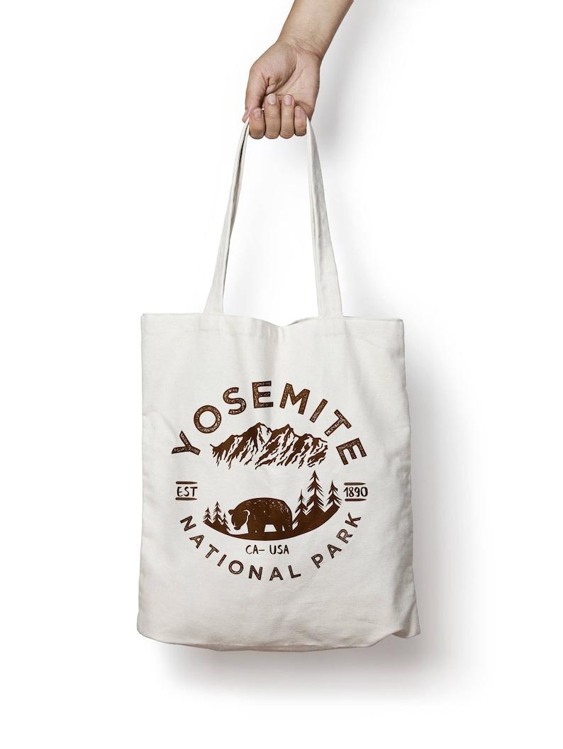 Yosemite National Park Canvas Tote Bag