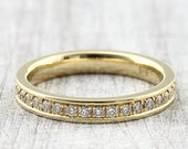 Memoryring 585 750 Gold 36 Brilliants ges. 0.46ct, Memoire Ring, Pre-plug ring with Diamonds, Narrow Brilliant Ring