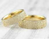 """Trauringe """"Lebenslinien Struktur v2"""" 585 750 Gold, Eheringe strukturiert, Trauringe mit Struktur, Partnerringe für Männer"""