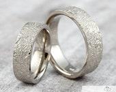 "Trauringe Eheringe ""Lebenslinien Struktur v1"" 585 750 Gold, Ringe mit Gravur, Trauringe mit Struktur, Eheringe strukturiert"