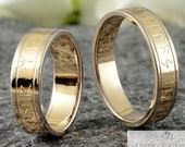 "Runes wedding rings BiColor ""Yellow gold & grey gold"""