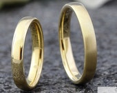 Fine! Wedding rings 2.8 mm gold, narrow wedding rings yellow gold, partner rings plain, wedding rings without stone