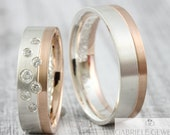 "Eherring BiColor ""Stellato"" rose gold & silver"