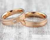 "Wedding rings ""brilliant baguette"" 585 750 gold, wedding rings with diamond, wedding rings with stone, rings with engraving"