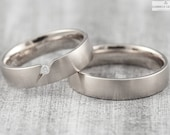 "Wedding rings ""pikeFINE brilliant"" 585 750 white gold, clamping ring platinum gold, wedding rings white gold simple, platinum ring with diamond"