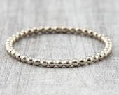 Ball ring 1.5 mm white gold / pre-plug ring / 585 or 750 white gold / beading ring / ball ring 14K