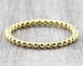 Ball ring 2 mm yellow gold red gold / pre-cut ring with balls / 585 or 750 gold / ball ring 14K 18K gold / beading ring