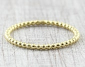Ball ring 1.5 mm red gold yellow gold / pre-plug ring / 585 or 750 gold / ball ring 14k 18K / beading ring
