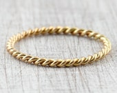 Cord ring 1.8 mm 585 750 Gold, Twisted Ring, Twist Ring, Front ring for wedding ring