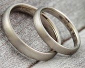 "Wedding rings ""Classic"" gold platinum, partner rings white gold, narrow wedding rings red gold, vintage rings Roségold"