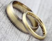 "Wedding Rings Bicolor ""585 750 Yellow Gold & Grey Gold"", Partnering White Gold"