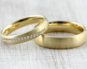 "Wedding rings ""valera brilliant"" 333 585 750 yellow gold, brilliant wedding rings platinum, memory ring memoir"