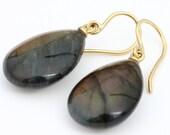 Labradorite earrings 585 ...