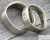 """Wedge rings """"Quadro&..."""