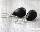 Onyx Earrings Silver, ony...