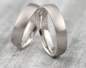 "Wedding rings ""pikeFINE"" 585 750 white gold, wedding rings platinum narrow, wedding rings white gold simple"