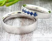 "Eherring ""OCEAN"" with blue sapphires"