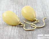 Amber earrings 585 yellow...