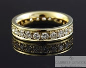 Memory Brilliant Ring Gold 24 Brilliants ges. 1.68ct, Diamond Memoire Ring, Gold Ring with Diamonds