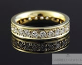 Memory Brilliant Ring Gold 24 Brilliantges ges. 1.68ct, Diamond Memoire Ring, Gold Ring with Diamonds
